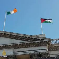 Palistinian Flag The Palestinian Flag Is Flying Over Al Jazeera English