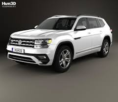 vw atlas volkswagen atlas r line 2017 3d model hum3d