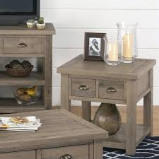 Pine End Tables Jofran 940 Series End Table With Legs In Slater Mill Pine