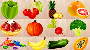 kids learning fruits and vegetables names for kids english