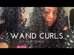 barrel curl hairpieces wand curls on synthetic hair youtube