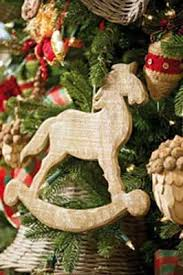 wooden decorations for winter holiday party in eco style
