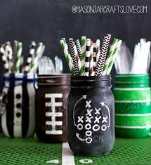 football centerpieces football party jars jar crafts