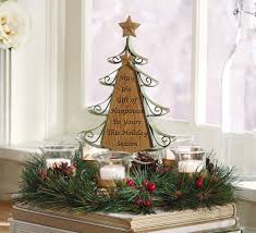 christmas tree centerpiece glass candle holder small tree ornament