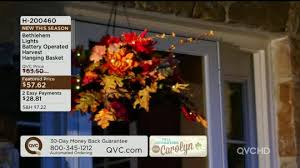 bethlehem lights battery op harvest hanging basket page 1 qvc