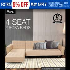 Ebay Cream Sofa Bio Design Modular Double Sofa Bed Lounge Suite Chaise Cream Ebay