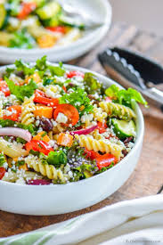 Pasta Salad Recipes With Italian Dressing Deli Style Pasta Salad With Kale Recipe Chefdehome Com