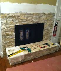 fireplace stone wall home decor