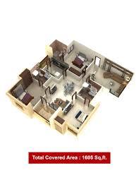 3 bedrooms apartments fazaia karachi
