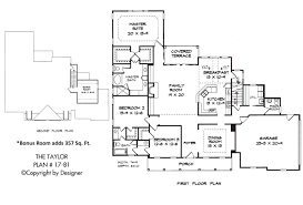 taylor house plan house plans by garrell associates inc