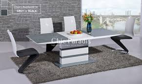 Grey Extendable Dining Table Lovable Grey Extendable Dining Table On House Renovation