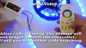 led strip lights remote code matching and control the rgbw led strip light via mi light