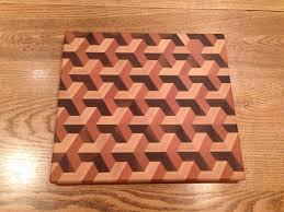 3 dimensional end grain cutting board