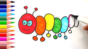 how to draw caterpillar rainbow caterpillar rainbow coloring
