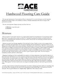 care maintenance ace hardwood