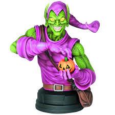 spider man green goblin mini bust