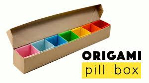 Origami Desk Organizer Origami Origami Pill Box Organizer Tutorial â Diy â Origami