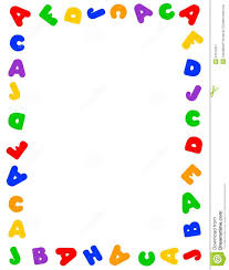 letter clipart border pencil and in color letter clipart border