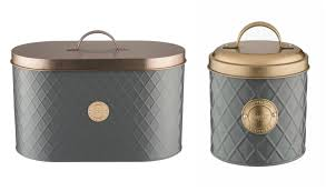 copper kitchen canisters typhoon copper lid bread bin set 3 storage canisters