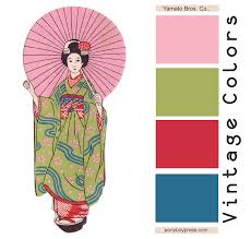 vintage color palette yamamto bros co see blog for hex codes
