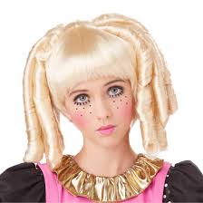doll halloween costumes 70733 blonde baby doll curls girls costume wig large jpg 1100