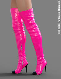 s high boots high boots 4 for genesis 8 s 3d models and 3d software