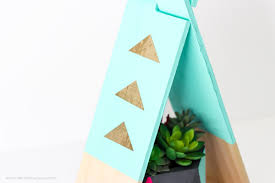 gold foil vinyl teepee diy decor project printable crush