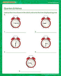 quarters u0026 halves free 1st grade math worksheets mathblaster