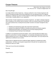 best inventory supervisor cover letter examples livecareer