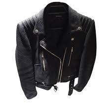 black leather biker jacket the kooples biker jackets biker jackets leather black ref 15468
