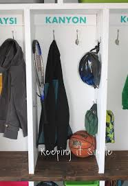 diy garage mudroom lockers with lots of storage