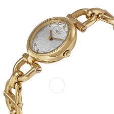 fossil silver bracelet images Fossil olive silver tone dial gold tone steel link bracelet ladies jpg
