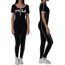legging jumpsuit fila high neck unitard legging jumpsuit with front zip