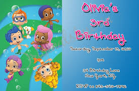 template bubble guppies birthday ticket invitations together