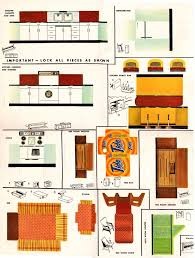furniture clipart for floor plans vintage 1940 u0027s 50 u0027s tide detergent large doll house w furniture