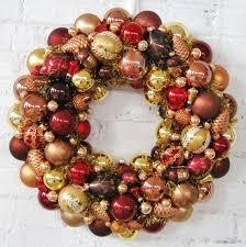 autumn wreath copper bronze gold ornaments wreath