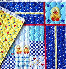 baby duck sided quilted fabric panel pre