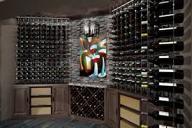 custom cable wine system wine cellar with major impact design