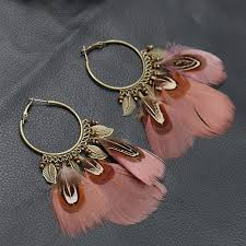 feather earrings s vintage feather earrings for women pendant indian jewelry