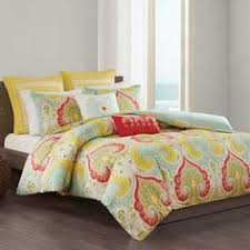Echo Jaipur Comforter Go Bold In The Bedroom With Bright Indian Paisley Jaipur Duvet