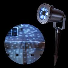 Led Projector Christmas Lights by Lumabase 1 Light White Dots Projector Light 22601 The Home Depot