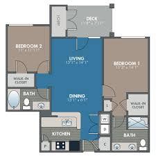 Two Bedroom Floor Plans 2 Bed 2 Bath Floor Plan Luxury Apartment Stafford Va