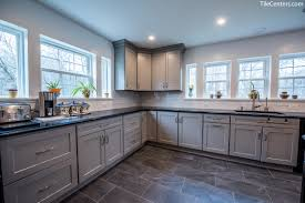 grey kitchen cabinets and black countertops kitchen remodel argus ct gaithersburg md 20879