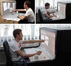 Futuristic Computer Desk Futuristic Desktop 3d Multi Touch Computer Desk Design