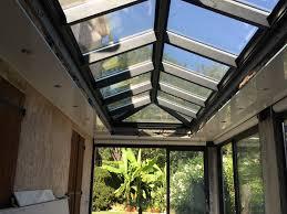 vitrage toiture veranda véranda 4 pentes avec faux plafond installateur véranda cannes 06