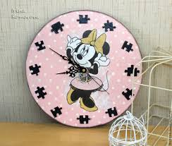 buy minnie mouse clock disney clock wooden clock hand made