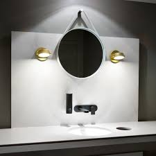 Bathroom Lighting Spotlights Bathroom Lights Led Monocle Wall Sconce From Rich Brilliant