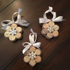 snowflake ornaments from upcycled corks by literarycork