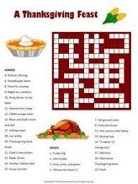 thanksgiving crosswords printable thanksgiving printables