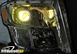 nissan titan yellow fog light 2016 2018 nissan titan custom bi xenon hid projector led